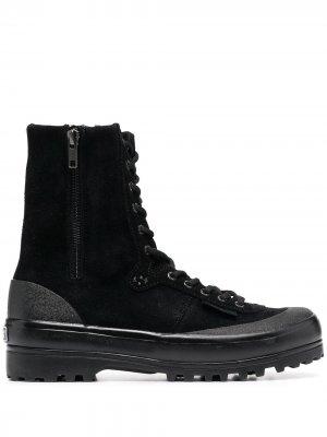 Высокие кроссовки Superga. Цвет: черный