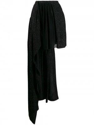 Юбка асимметричного кроя Preen By Thornton Bregazzi. Цвет: черный