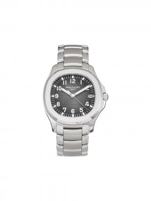 Наручные часы Aquanaut pre-owned 40 мм 2020-го года Patek Philippe. Цвет: черный