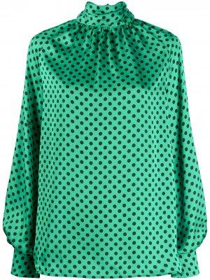 Блузка в горох MSGM. Цвет: зеленый
