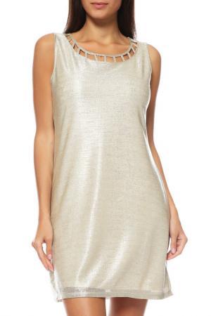 Платье Comma. Цвет: золотистый
