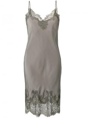 Платье-комбинация Coco Gold Hawk. Цвет: серый