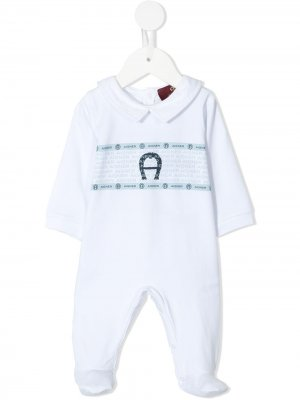 Комбинезон для новорожденного с воротником Питер Пэн Aigner Kids. Цвет: белый