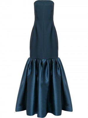 Платье макси Ari Solace London. Цвет: синий