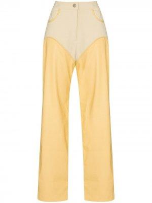 Прямые брюки Cowboy Paris Georgia. Цвет: желтый
