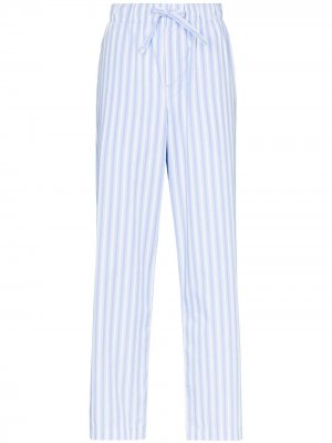 Пижамные брюки TEKLA. Цвет: синий