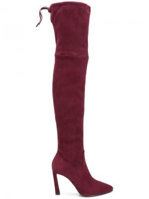 Ботфорты на высоком каблуке Stuart Weitzman. Цвет: фиолетовый