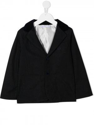 Приталенный однобортный пиджак Patachou. Цвет: синий