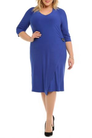 Платье с брошью SVESTA. Цвет: мультицвет