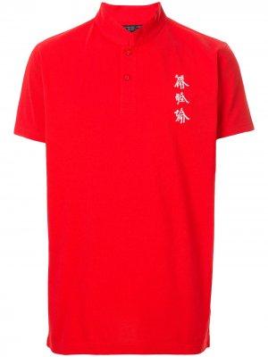 Рубашка Xu Bing Tang с вышивкой Shanghai. Цвет: красный