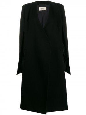 Пальто с открытыми рукавами Ports 1961. Цвет: черный