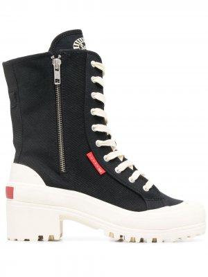 Ботинки на платформе Superga. Цвет: черный