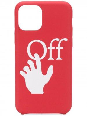 Чехол для iPhone 11 Pro с логотипом Off-White. Цвет: красный