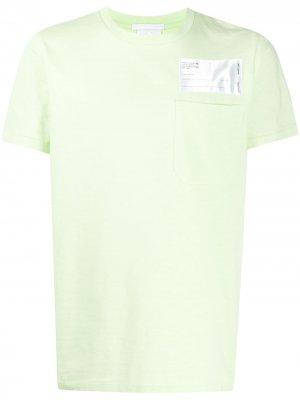 Футболка Industry Helmut Lang. Цвет: зеленый