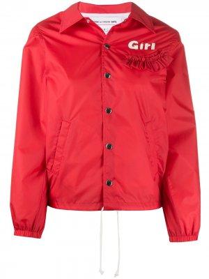 Куртка с капюшоном и оборками Comme Des Garçons Girl. Цвет: красный