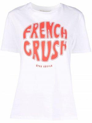 Футболка French Crush Être Cécile. Цвет: белый