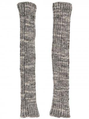 Трикотажные перчатки-митенки Chanel Pre-Owned. Цвет: серый