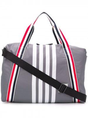 Спортивная сумка с полосками RWB Thom Browne. Цвет: серый