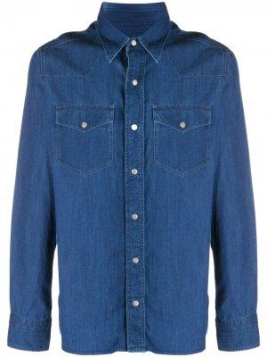 Джинсовая рубашка с карманами Tom Ford. Цвет: синий