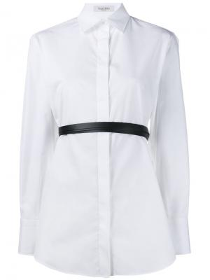 Рубашка с поясом Valentino. Цвет: белый