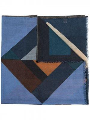 Шарф с геометричным узором Altea. Цвет: синий