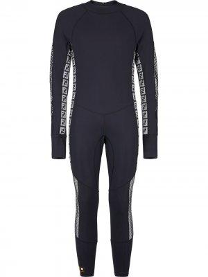 Спортивный костюм с логотипом FF Fendi. Цвет: черный