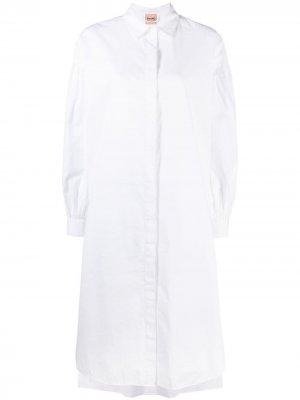 Длинная рубашка с объемными рукавами Nude. Цвет: белый
