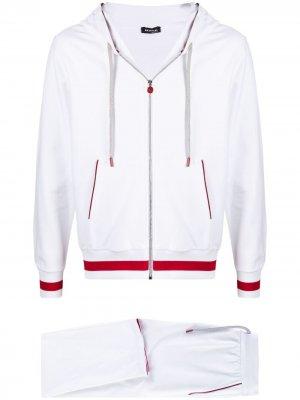 Спортивный костюм Kiton. Цвет: белый