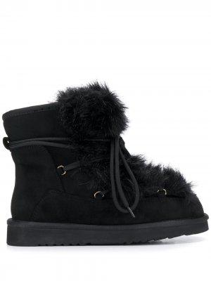 Ботинки с искусственным мехом Tosca Blu. Цвет: черный