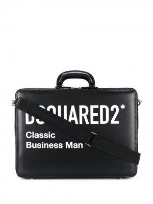 Портфель Classic Business Man Dsquared2. Цвет: черный