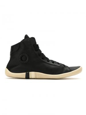 Leather hi-top sneakers Osklen. Цвет: черный