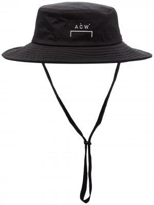 Шляпа с широкими полями и логотипом A-COLD-WALL*. Цвет: черный