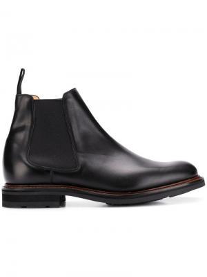 Ботинки-челси Church's. Цвет: черный