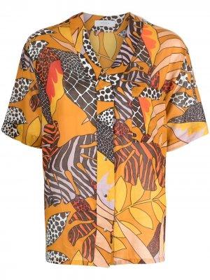 Блузка с принтом Roseanna. Цвет: нейтральные цвета