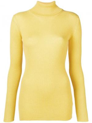 Roll-neck ribbed sweater Iris Von Arnim. Цвет: желтый