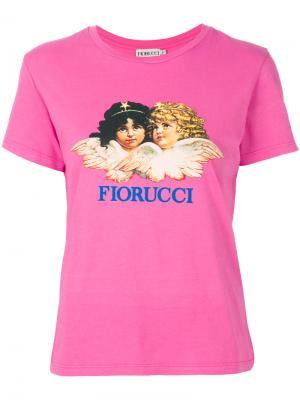 Футболка с ангелом Fiorucci. Цвет: розовый