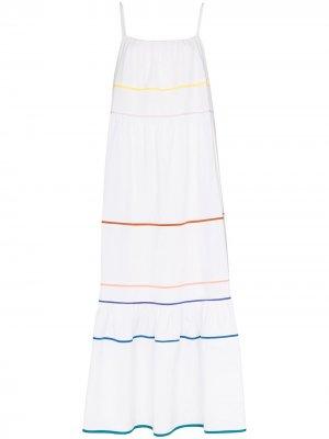 Платье макси Zoelle с контрастными полосками Araks. Цвет: белый