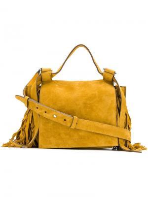 Fringe detail shoulder bag Elena Ghisellini. Цвет: желтый