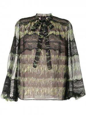 Блузка с принтом Giambattista Valli. Цвет: черный