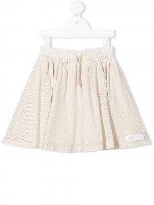 Сетчатая юбка с логотипом Il Gufo. Цвет: белый