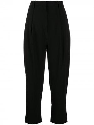 Укороченные брюки прямого кроя с завышенной талией Kenzo. Цвет: черный