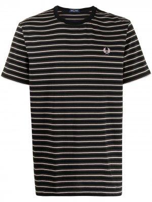 Полосатая футболка FRED PERRY. Цвет: зеленый