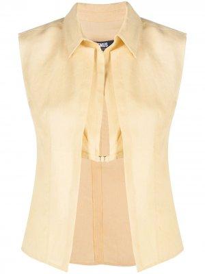 Многослойная блузка Jacquemus. Цвет: желтый