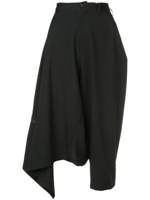Cropped wide-leg trousers Yohji Yamamoto. Цвет: черный