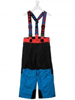Лыжные брюки в стиле колор-блок Stella McCartney Kids. Цвет: черный