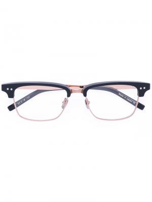 Очки в прямоугольной оправе Dita Eyewear. Цвет: черный