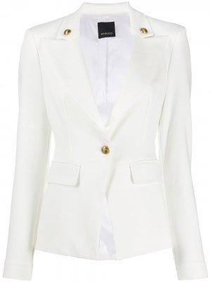 Пиджак узкого кроя Pinko. Цвет: белый