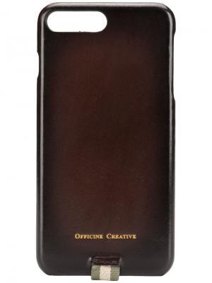 Чехол для iPhone 8 Plus Officine Creative. Цвет: коричневый