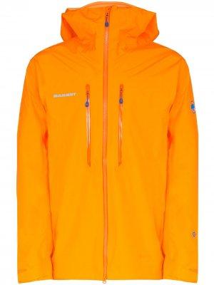 Куртка Nordwand Advanced с капюшоном Mammut. Цвет: оранжевый