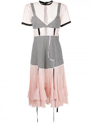 Платье-футболка Accord длины миди Sandy Liang. Цвет: разноцветный
